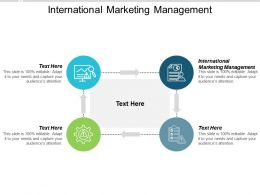 International Marketing Management Ppt Powerpoint Presentation Summary Themes Cpb