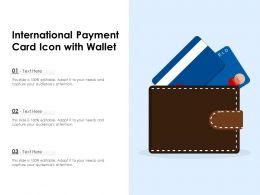 International Payment Card Icon With Wallet