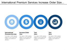 International Premium Services Increase Order Size Excellent Business Activity