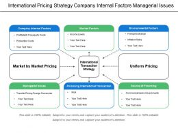 International Pricing Strategy Company Internal Factors Managerial Issues