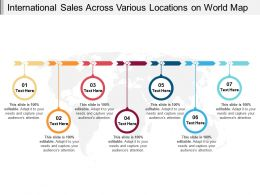International Sales Across Various Locations On World Map
