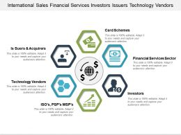 International Sales Financial Services Investors Issuers Technology Vendors