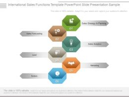 International Sales Functions Template Powerpoint Slide Presentation Sample