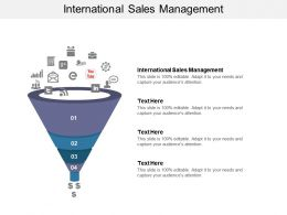International Sales Management Ppt Powerpoint Presentation Show Format Ideas Cpb