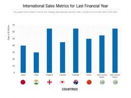 International Sales Metrics For Last Financial Year