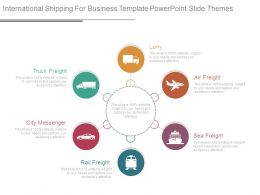 International Shipping For Business Template Powerpoint Slide Themes