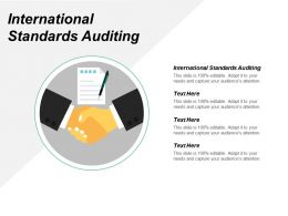 International Standards Auditing Ppt Powerpoint Presentation File Designs Download Cpb