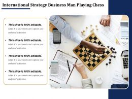 International Strategy Business Man Playing Chess