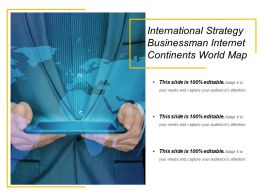 International Strategy Businessman Internet Continents World Map