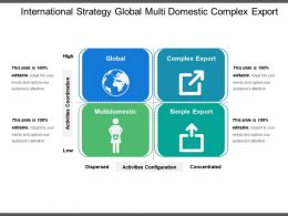 International Strategy Global Multi Domestic Complex Export