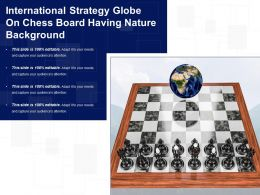 International Strategy Globe On Chess Board Having Nature Background