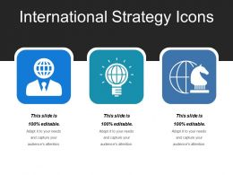 International Strategy Icons