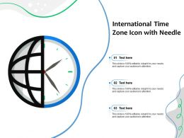 International Time Zone Icon With Needle