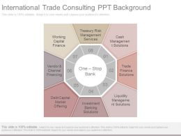 International Trade Consulting Ppt Background