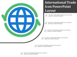 International Trade Icon Powerpoint Layout