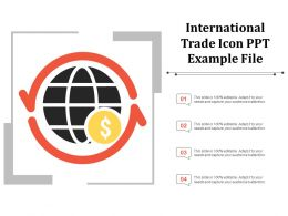 International Trade Icon Ppt Example File