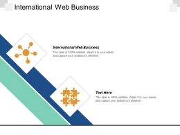 International Web Business Ppt Powerpoint Presentation Icon Design Templates Cpb
