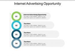 Internet Advertising Opportunity Ppt Powerpoint Presentation Portfolio Show Cpb