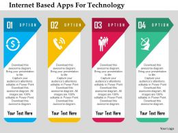 Internet Based Apps For Technology Flat Powerpoint Design