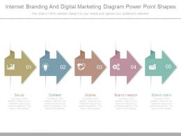 Internet Branding And Digital Marketing Diagram Power Point Shapes
