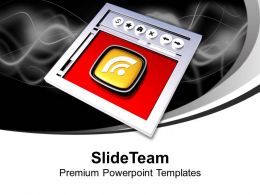 Internet Browser And Rss Symbol Powerpoint Templates Ppt Themes And Graphics 0213