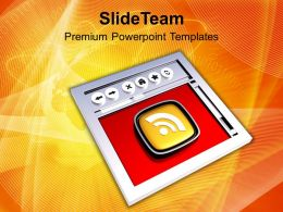 Internet Browser And Rss Symbol Powerpoint Templates Ppt Themes And Graphics