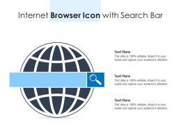 Internet Browser Icon With Search Bar