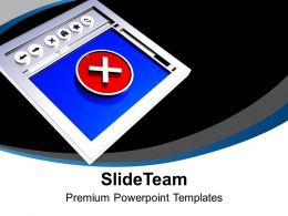 Internet Browser With Error Symbol Wrong Powerpoint Templates PPT Themes And Graphics 0213