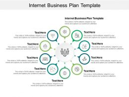 Internet Business Plan Template Ppt Powerpoint Presentation Summary Graphics Cpb