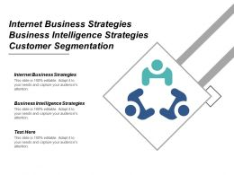 Internet Business Strategies Business Intelligence Strategies Customer Segmentation Cpb