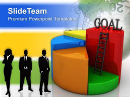 Internet Business Strategy Powerpoint Templates Goal Chart Concept Success Ppt Layouts