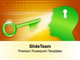 Internet Business Strategy Templates Head With Key Solutions Ppt Slides Powerpoint