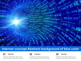 Internet Concept Abstract Background Of Blue Color