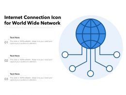 Internet Connection Icon For World Wide Network