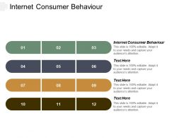 Internet Consumer Behaviour Ppt Powerpoint Presentation Gallery Microsoft Cpb