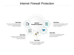 Internet Firewall Protection Ppt Powerpoint Presentation Layouts Ideas Cpb