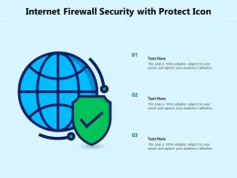 Internet Firewall Security With Protect Icon