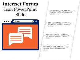 Internet Forum Icon Powerpoint Slide