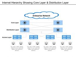 Internet Hierarchy Showing Core Layer And Distribution Layer
