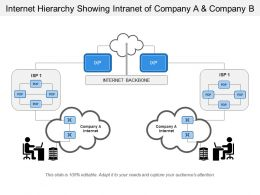 Internet Hierarchy Showing Intranet Of Company A And Company B