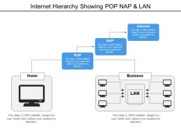 Internet Hierarchy Showing Pop Nap And Lan