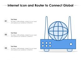 Internet Icon And Router To Connect Global