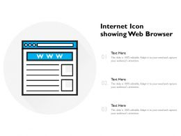 Internet Icon Showing Web Browser