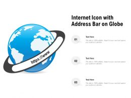 Internet Icon With Address Bar On Globe