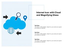 Internet Icon With Cloud And Magnifying Glass