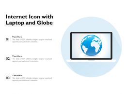 Internet Icon With Laptop And Globe