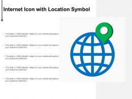 Internet Icon With Location Symbol