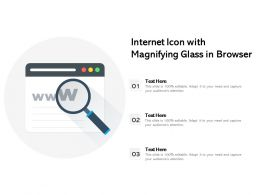 Internet Icon With Magnifying Glass In Browser