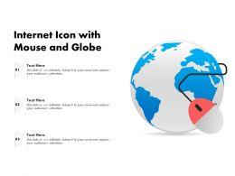 Internet Icon With Mouse And Globe