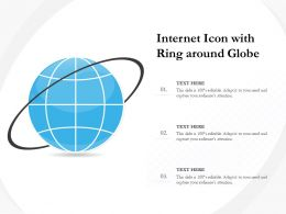 Internet Icon With Ring Around Globe